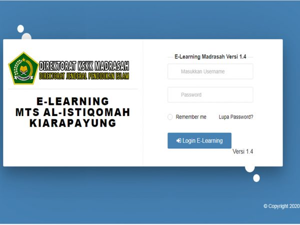 Telah Direlease E-Learning Madrasah Versi 1.4